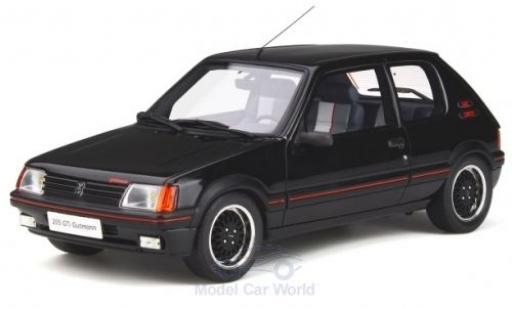 Peugeot 205 1/18 Ottomobile GTI Gutmann noire 1988 miniature