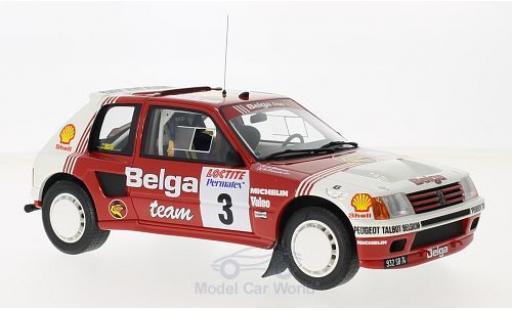 Peugeot 205 Rallye 1/18 Ottomobile T16 Gruppe B No.3 Belga Rallye Ypres 1985 B.Darniche/A.Mahe miniature