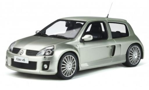 Renault Clio 1/18 Ottomobile V6 Phase 2 grise 2003 miniature