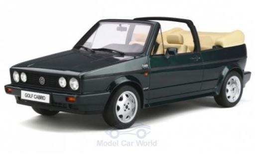 Volkswagen Golf 1/12 Ottomobile I Cabriolet Classic Line metallise verte 1992 miniature