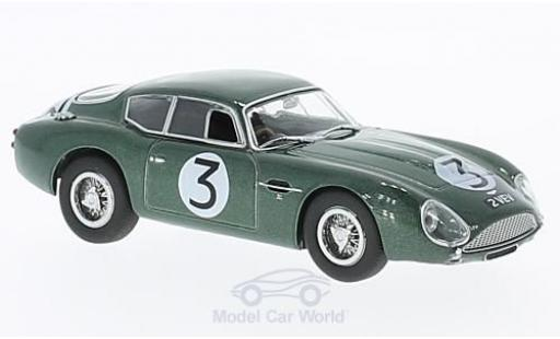 Aston Martin DB4 1/43 Oxford GT Zagato VEV RHD No.3 Goodwood 1961 J.Clark miniature