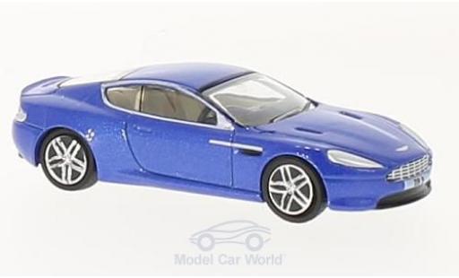 Aston Martin DB9 1/76 Oxford Coupe metallic-bleue miniature