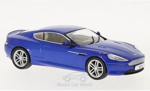 Aston Martin DB9 1/43 Oxford Coupe metallic-bleue RHD miniature