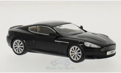 Aston Martin DB9 1/76 Oxford Coupe noire RHD miniature
