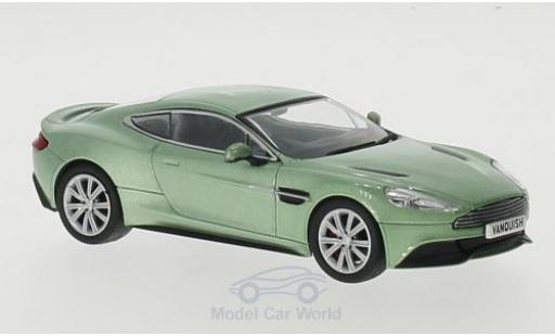 Aston Martin Vanquish 1/43 Oxford Coupe metallic-hellgrün RHD miniature