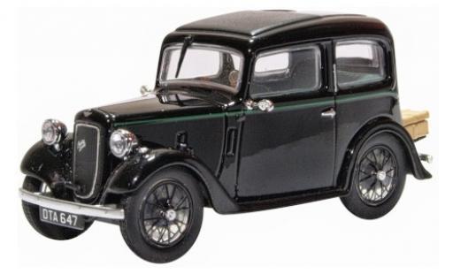 Austin 7 1/43 Oxford Ruby Saloon noire RHD miniature
