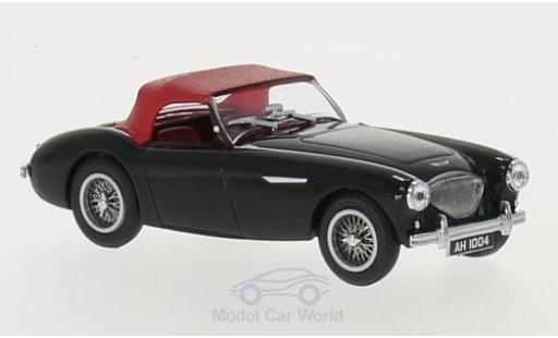 Austin Healey 100 1/43 Oxford BN1 noire/rouge RHD miniature