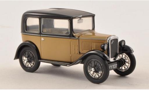 Austin Seven 1/43 Oxford RN Saloon beige/noire miniature