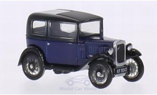 Austin Seven 1/76 Oxford RN Saloon bleue/noire RHD miniature