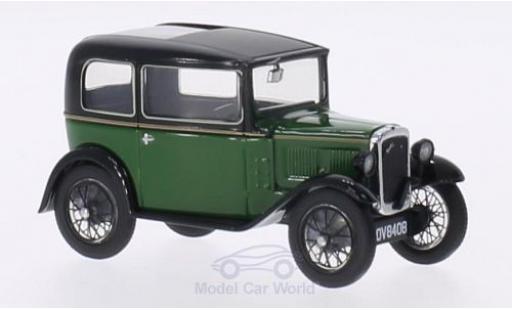 Austin Seven 1/43 Oxford RN Saloon verte/noire RHD miniature
