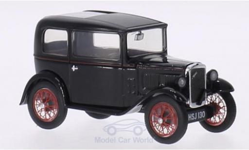 Austin Seven 1/43 Oxford RN Saloon noire/rouge RHD miniature
