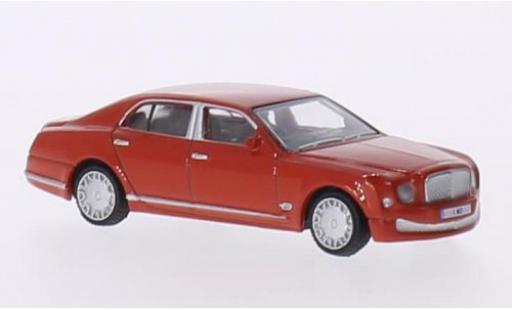 Bentley Mulsanne 1/76 Oxford rosso RHD modellino in miniatura