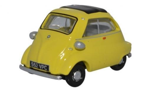 Bmw Isetta 1/76 Oxford giallo modellino in miniatura