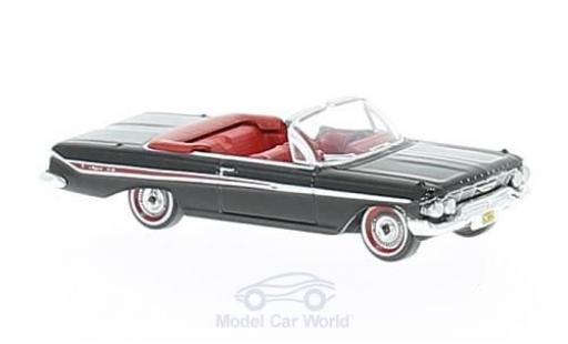 Chevrolet Impala 1961 1/87 Oxford Convertible noire/rouge 1961 miniature