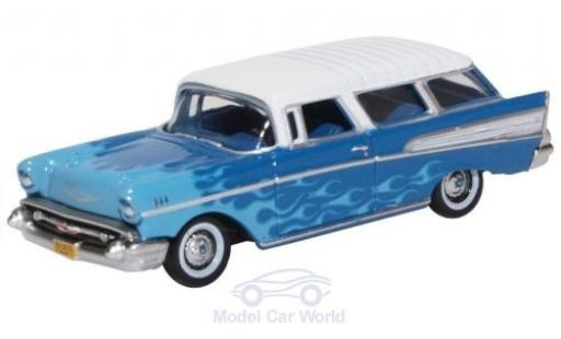 Chevrolet Nomad 1/87 Oxford bleue/bleue 1957 Hot Rod miniature