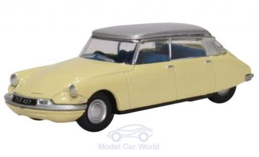 Citroen DS 1/76 Oxford 19 jaune/grise miniature