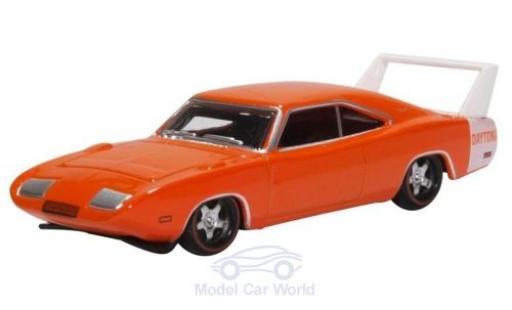 Dodge Charger 1/87 Oxford Daytona orange/blanche 1969 miniature