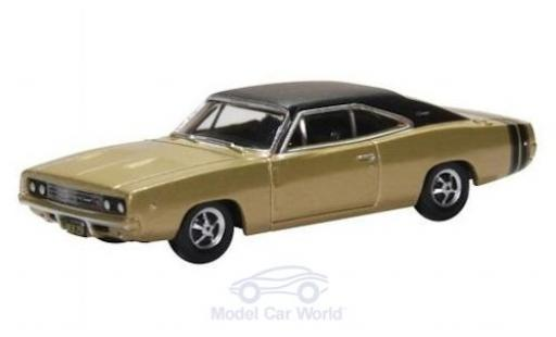 Dodge Charger 1/87 Oxford gold/matt-noire 1968 miniature