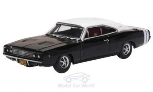 Dodge Charger 1/87 Oxford black/white 1968 diecast model cars