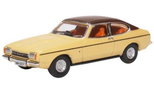 Ford Capri 1/76 Oxford Mk2 beige/matt-marron RHD miniature