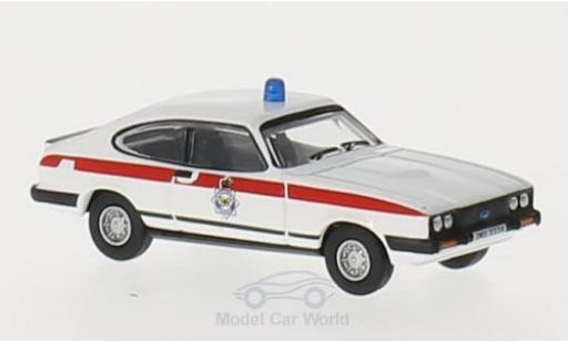 Ford Capri 1/76 Oxford MkIII RHD Merseyside Police miniatura