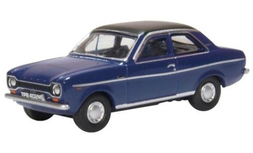 Ford Escort 1/76 Oxford Mk1 lila/matt-noire RHD miniature