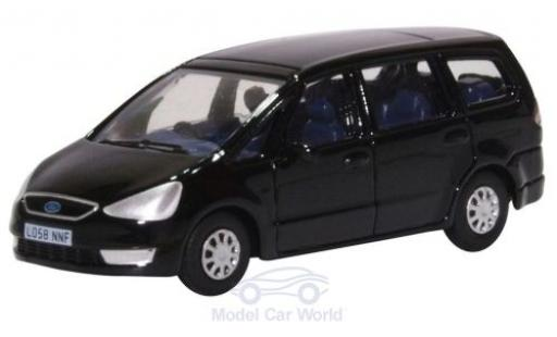 Ford Galaxy 1/76 Oxford negro miniatura