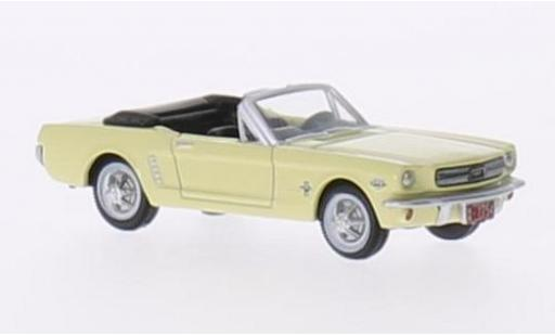 Ford Mustang 1/87 Oxford Convertible jaune 1965 miniature