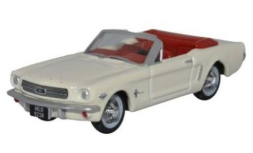 Ford Mustang 1/87 Oxford Convertible blanche 1965 miniature