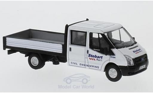 Ford Transit 1/76 Oxford Dropside Stobart Rail miniature