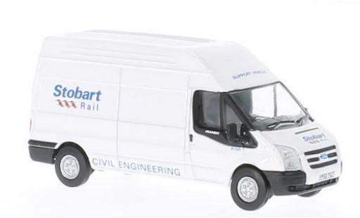 Ford Transit 1/76 Oxford LWB High Roof Stobart miniature
