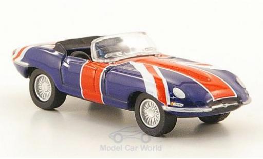 Jaguar E-Type 1/76 Oxford Union Jack Austin Powers miniature