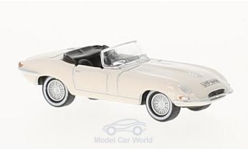 Jaguar E-Type 1/76 Oxford blanco coche miniatura