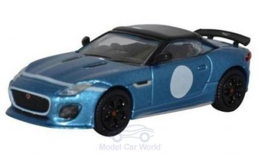 Jaguar F-Type 1/76 Oxford Project 7 metallise bleue miniature