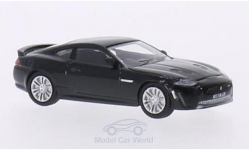Jaguar XKR S 1/76 Oxford - metallise noire RHD miniature