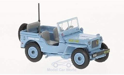 Jeep Willys 1/76 Oxford MB US Navy Seebees miniatura