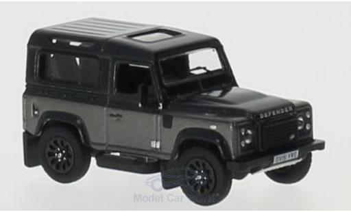 Land Rover Defender 1/76 Oxford 90 grise/grise RHD Station Wagon miniature