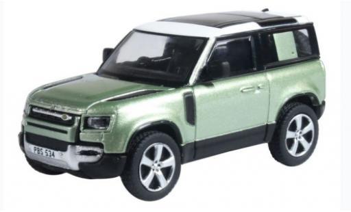 Land Rover Defender 1/76 Oxford 90 (L663) green/white RHD 2020 diecast model cars