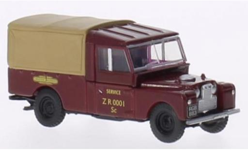 Land Rover Series 1 1/76 Oxford 109 Canvas RHD British Rail miniature
