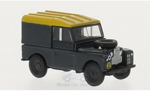 Land Rover Series 1 1/76 Oxford 88 Hard Back bleue/jaune RHD RAF miniature