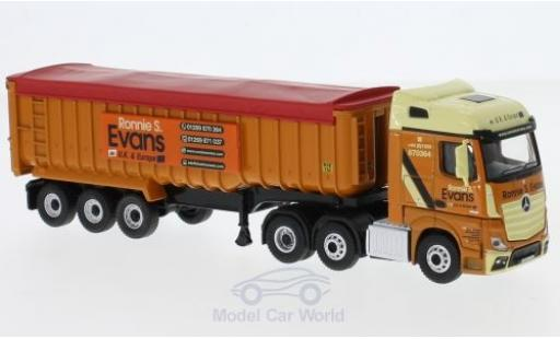 Mercedes Actros 1/76 Oxford SSC RHD Ronnie Evans Muldenkipper miniature