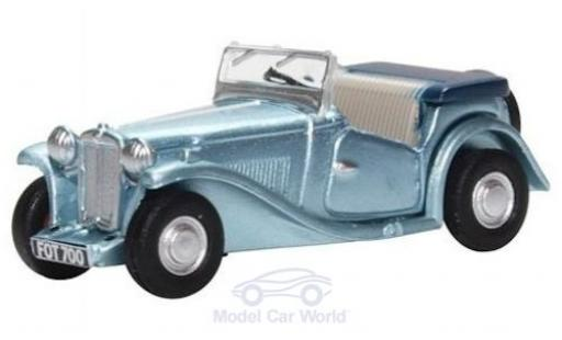 MG TC 1/76 Oxford metallise blue RHD diecast model cars