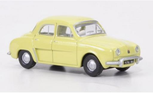 Renault Dauphine 1/76 Oxford yellow diecast model cars