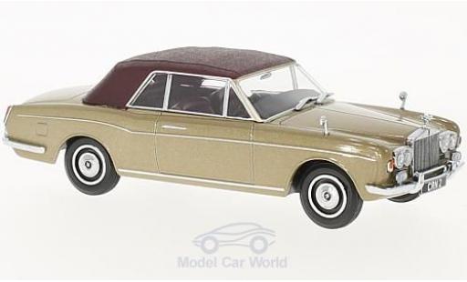 Rolls Royce Corniche 1/43 Oxford Convertible metallic-dunkelbeige/matt-dunkelred RHD geschlossen diecast