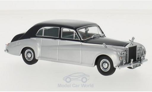 Rolls Royce Phantom 1/43 Oxford V James Young grise/bleue RHD miniature