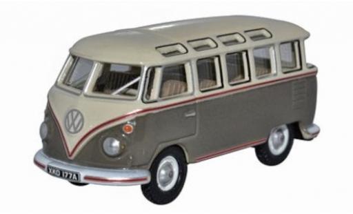 Volkswagen T1 1/76 Oxford Samba Bus beige/grey diecast model cars