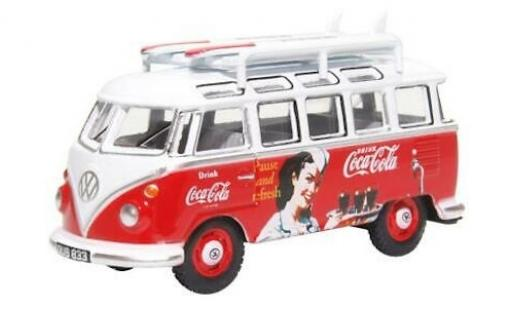 Volkswagen T1 1/76 Oxford Samba Bus Coca-Cola avec Surfboards sur Rack de toit