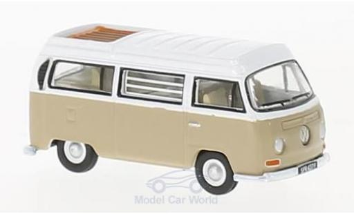 Volkswagen T2 B 1/76 Oxford Bay Window Camper dunkelbeige/white diecast
