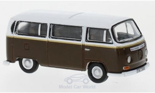 Volkswagen T2 B 1/76 Oxford Bay Window dunkelbrown/white Auf Wiedersehn Pet diecast