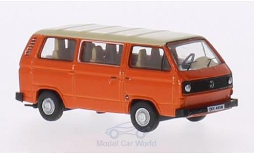 Volkswagen T2 B 1/76 Oxford 5 Bus orange/beige diecast